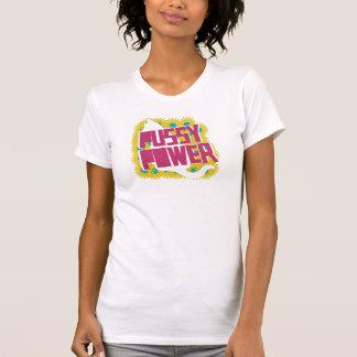 T-shirt Femmes de puissance de chat supérieures