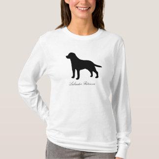 T-shirt Femmes de silhouette de chien de labrador