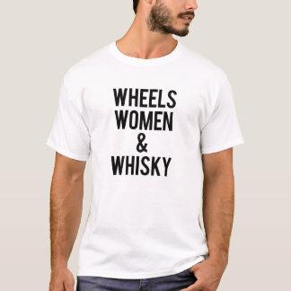 T-shirt Femmes et whiskey de roues