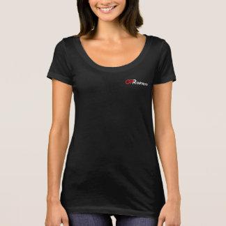 T-shirt Femmes foncées de pièce en t de scoop de GPR