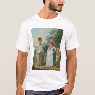 T-shirt Femmes indiennes occidentales de couleur, avec un