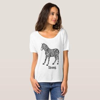 T-shirt Femmes lâches fortes de zèbre supérieures