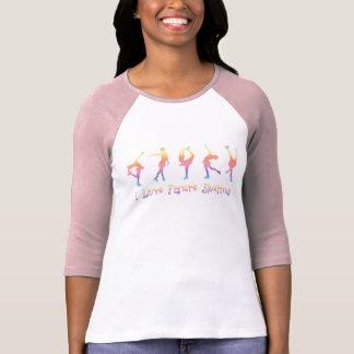 T-shirt femmes - patinage artistique d'amour d'I,