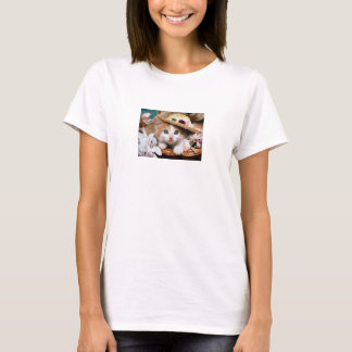 T-shirt femmes simple personnalisable chat