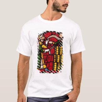 T-shirt Fenêtre dépeignant un vendeur de baril, c.1300
