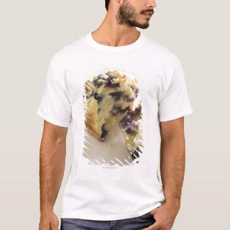 T-shirt Fente de petit pain de myrtille ouverte d'un plat
