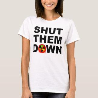 T-shirt Fermé leur en bas d'aucun slogan de fusions