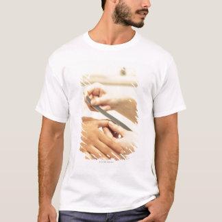 T-shirt Fermez-vous de la manucure