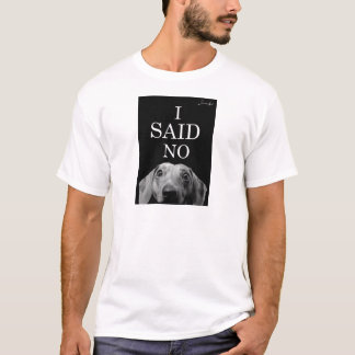 T-shirt feroce teckel I said no