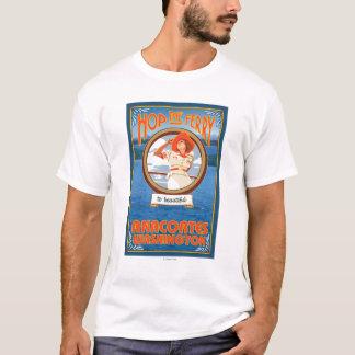 T-shirt Ferry d'équitation de femme - Anacortes Washington