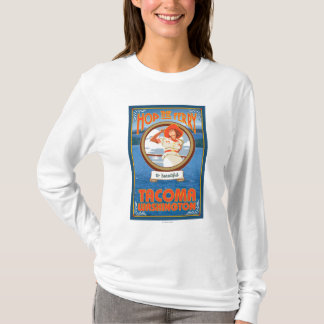 T-shirt Ferry d'équitation de femme - Tacoma, Washington