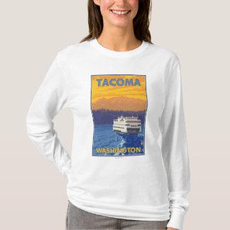 T-shirt Ferry et montagnes - Tacoma, Washington