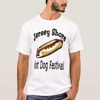 T-shirt Fest de hot-dog de rivage du Jersey