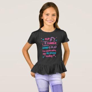 T-shirt Fête d'anniversaire de la gymnastique de la fille