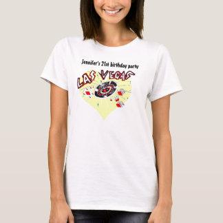 T-shirt Fête d'anniversaire de thème de casino de Las