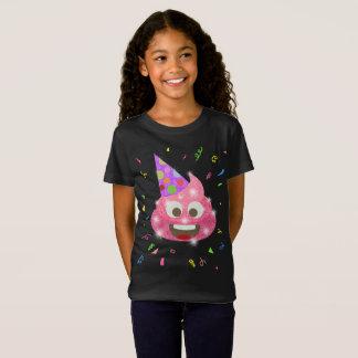T-Shirt Fête d'anniversaire drôle d'Emoji d'enfants de