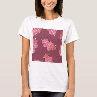 T-shirt feuille de prune
