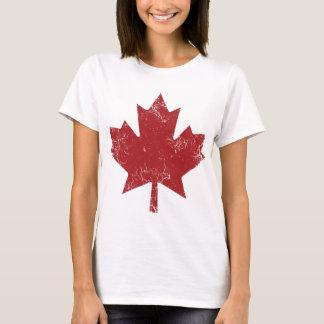 T-shirt Feuille d'érable canadienne (affligée)