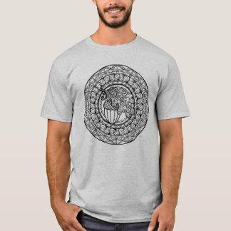 T-shirt Feuille inspirée de chêne d'automne de mandala