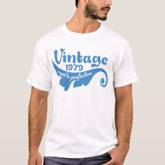 T-shirt FEUILLE vintage âgée à la perfection 1979 blue.ai