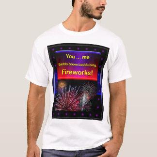 T-shirt Feux d'artifice Flirty drôles, 4 juillet