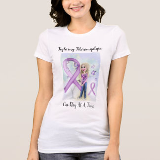 """T-shirt """"Fibromyalgie de combat un jour à la fois """""""