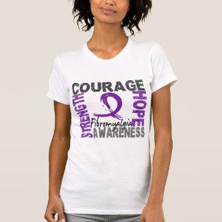 T-shirt Fibromyalgie d'espoir de courage de force