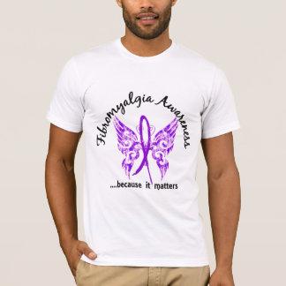 T-shirt Fibromyalgie grunge du papillon 6,1 de tatouage