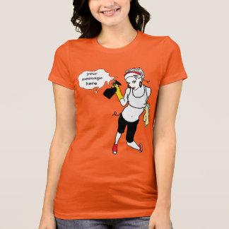 T-shirt ficelle nettoyant le message personnel