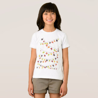 T-shirt Ficelles colorées de feuille de chute
