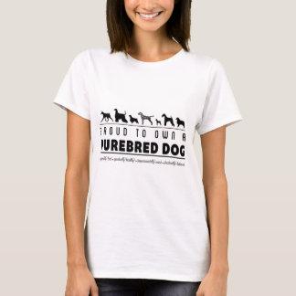 T-shirt Fier au propre un chien de race : Noir