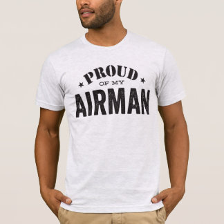 T-shirt Fier de mon aviateur