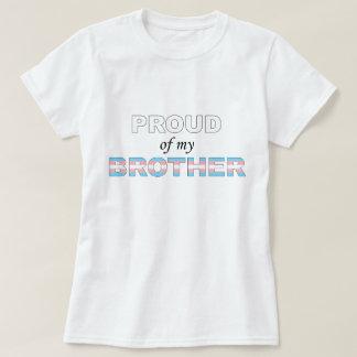 T-shirt Fier de mon transport LGBT de frère