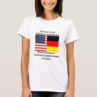 T-shirt Fier d'être Américain allemand
