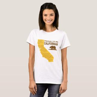 T-shirt Fier d'être californien