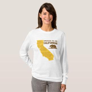 T-shirt Fier d'être LT de LongSleeve de Californien