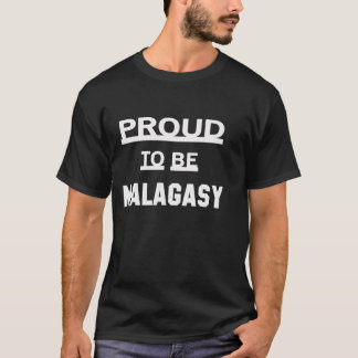 T-shirt Fier d'être malgache