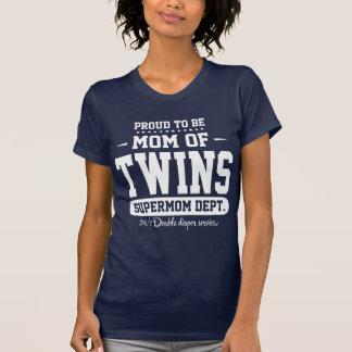 T-shirt Fier d'être maman de service de Supermom de
