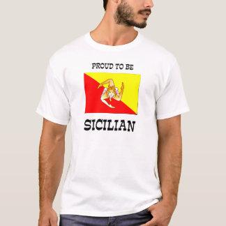 T-shirt Fier d'être sicilien