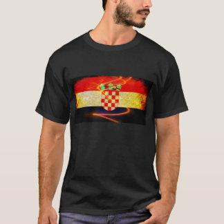 T-shirt Fierté de drapeau de la Croatie