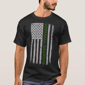 T-shirt Fierté de drapeau des États-Unis de grand-papa du
