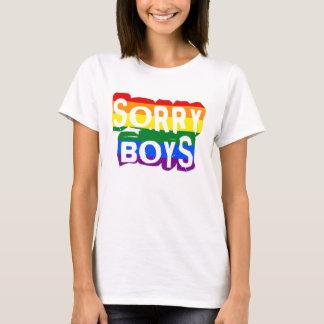 T-shirt Fierté désolée des garçons LGBTQ