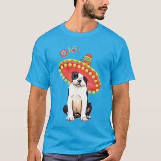 T-shirt Fiesta Boston Terrier