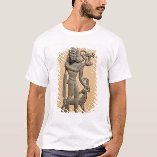 T-shirt Figure d'un homme tenant un singe