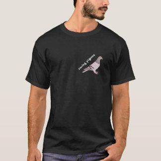 T-shirt Figure pigeon voyageur bleu