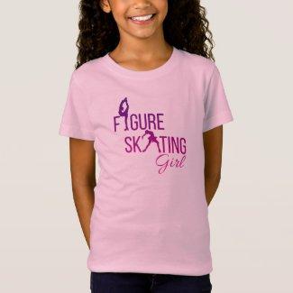 T-shirt Figure skating girl Purple Pink