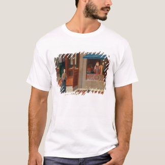 T-shirt Figures dans un intérieur de vestiaire