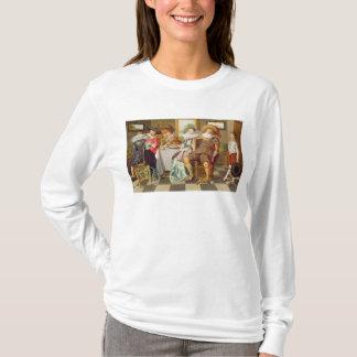 T-shirt Figures élégantes se régalant à un Tableau