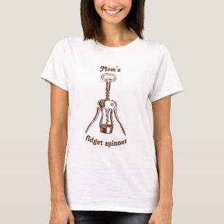 T-shirt Fileur de personne remuante du tire-bouchon de la