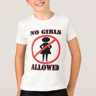T-shirt Fille avec des mains sur des hanches avec l'aucun